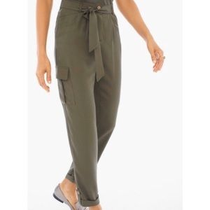 Chico's Army Green Utility Pants